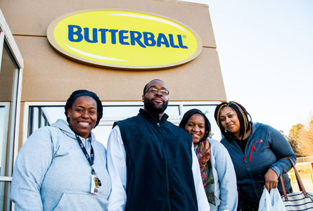 Butterball Team in front of the corporate offices