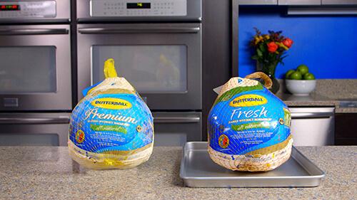 Two Frozen Turkeys