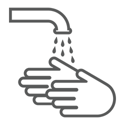Clean your hands icon