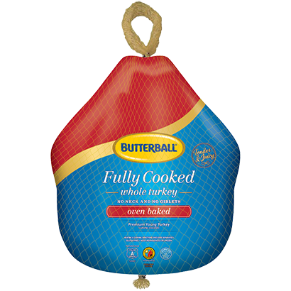 Frozen Fully Cooked Baked Turkey Package