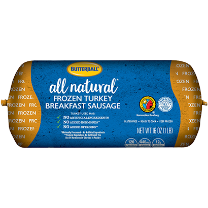 All Natural* Frozen Turkey Breakfast Sausage Package