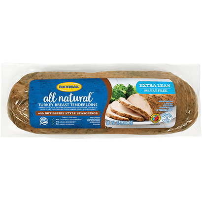 All Natural* Rotisserie Turkey Breast Tenderloins Package
