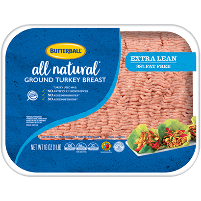 Fresh All Natural* Extra Lean Ground Turkey Breast 98/2 Package