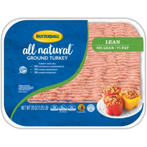 Fresh All Natural* Ground Turkey 93/7 Package