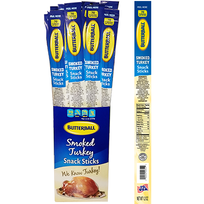 Smoked Turkey Snack Stick Package