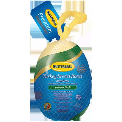 Boneless Frozen Savory Herb Turkey Breast Roast Package