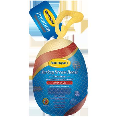 Boneless Frozen Cajun Turkey Breast Roast Package