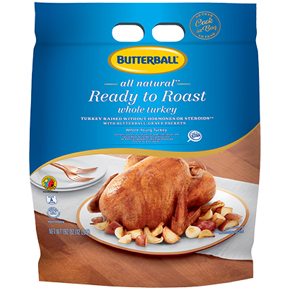 Ready to Roast All Natural* Whole Turkey Package