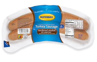 Natural Hardwood Smoked Turkey Sausage Package
