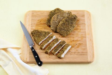 Simple Seasoning Pesto Parmesan Crusted Turkey Breast Filets Package