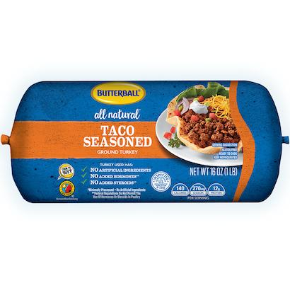 Fresh All Natural* Taco-Seasoned Ground Turkey Roll Package