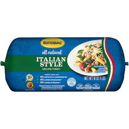 Fresh All Natural* Italian-Seasoned Ground Turkey Roll Package